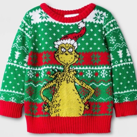 Ugly Christmas Sweater Other - Baby Ugly Christmas Sweater grinch